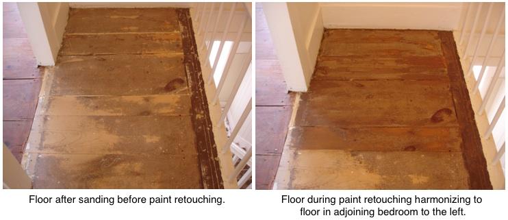hallway floors retouching